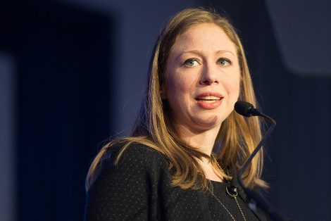 ATLANTA, GA - JANUARY 14:  Chelsea Clinton speaks onstage during the 2016 HOPE Global Forum at Atlanta Marriott Marquis on January 14, 2016 in Atlanta, Georgia.  (Photo by Marcus Ingram/Getty Images)